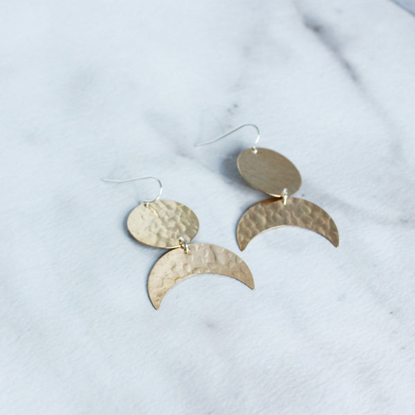 The Disc and Crescent Earrings-M.Liz Jewelry