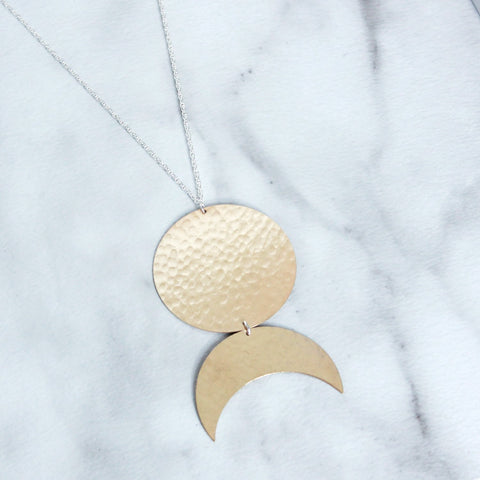 The Disc and Crescent Necklace-M.Liz Jewelry