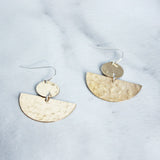 The Disc and Half Moon Earrings-M.Liz Jewelry