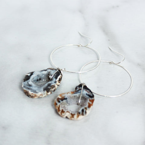 The Geode from Hoop Earrings-M.Liz Jewelry