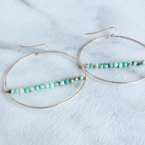 The Large Hoop with Beads-M.Liz Jewelry