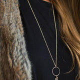 The Long Hoop and Crystal Necklace-M.Liz Jewelry