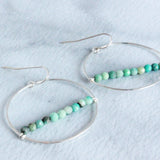 The Medium Hoop with Beads-M.Liz Jewelry