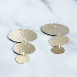 The Triple Disc Earrings-M.Liz Jewelry