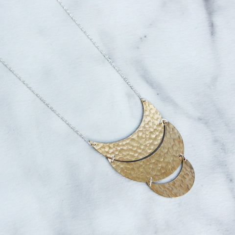 The Triple UMoon Necklace-M.Liz Jewelry