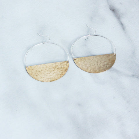 The Wire Hoop Earrings-M.Liz Jewelry