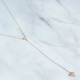 Triangle Y Necklace-M.Liz Jewelry