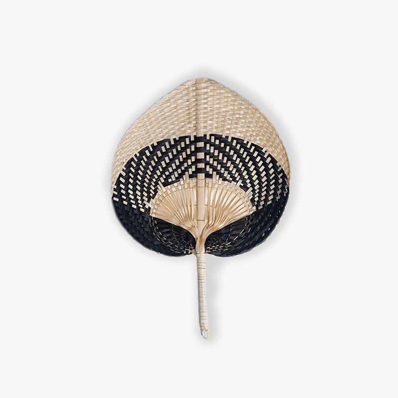 Nunga Bamboo Fan Natural & Black M