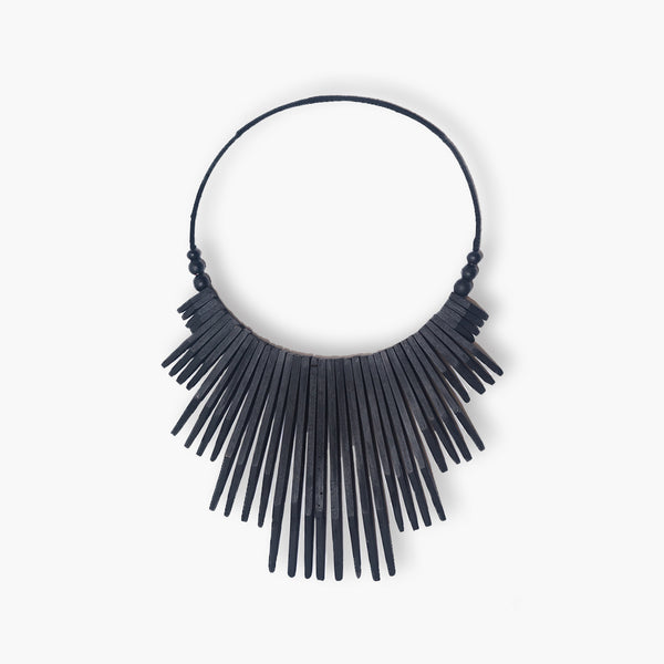 Rukoli Wooden Necklace Black L