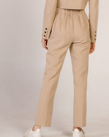 Plated tapered pants