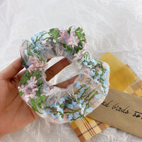 Flower scrunchie
