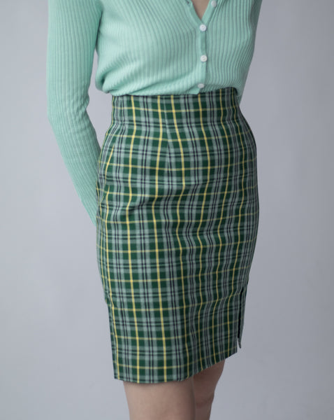 Checker mid skirt