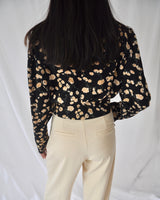 Flower print wrap top
