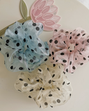 Polka dot super scrunchie