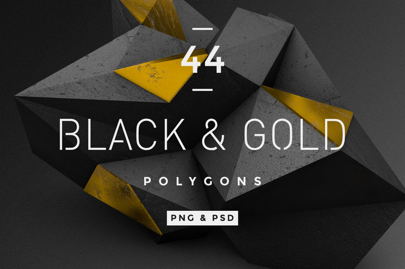 Black & Gold Polygons