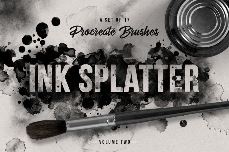 Ink Splatter Volume II Procreate Brushes
