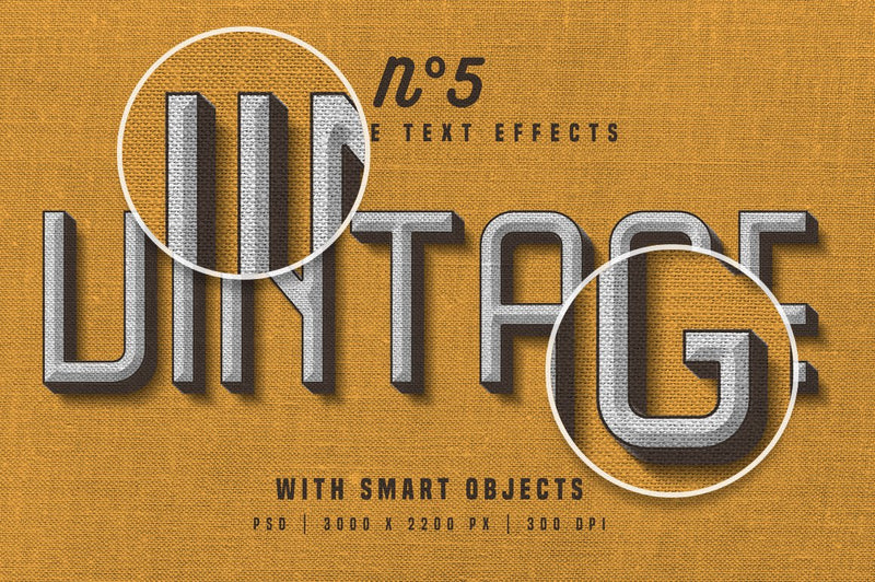 Vintage Photoshop Text Effects
