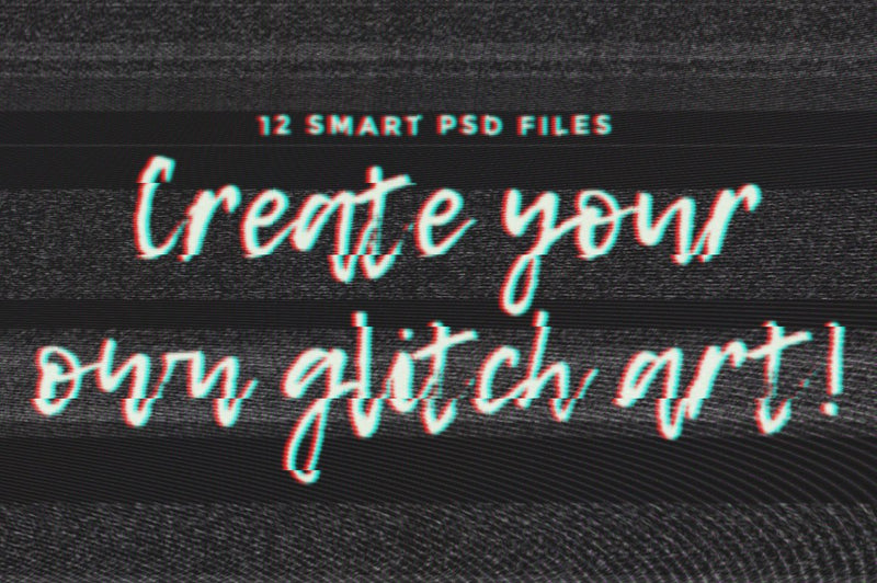 Glitch Text Effects for Photoshop Vol. II