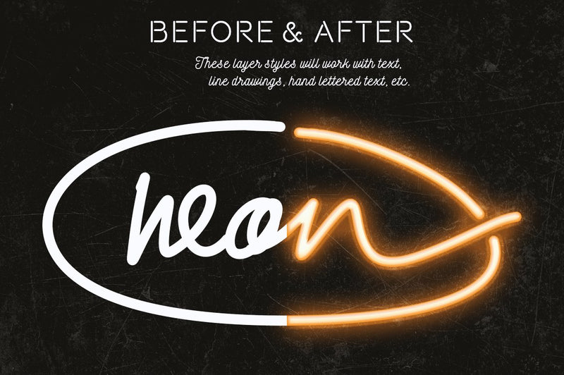 Neon Layer Styles for Photoshop
