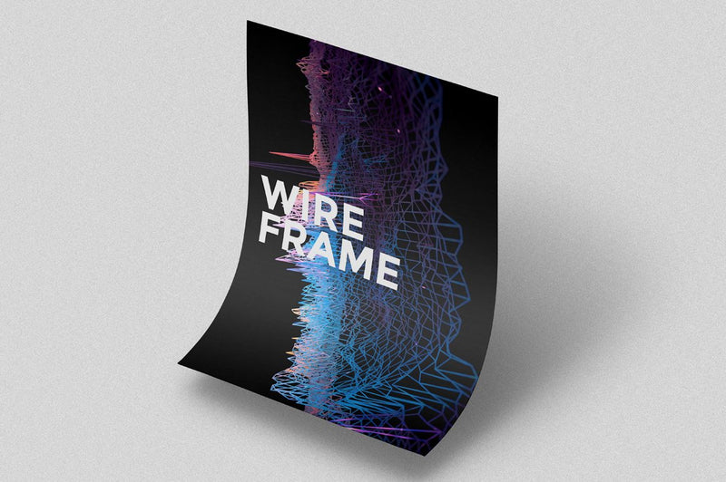 Spacetime: Abstract Wireframe Backgrounds