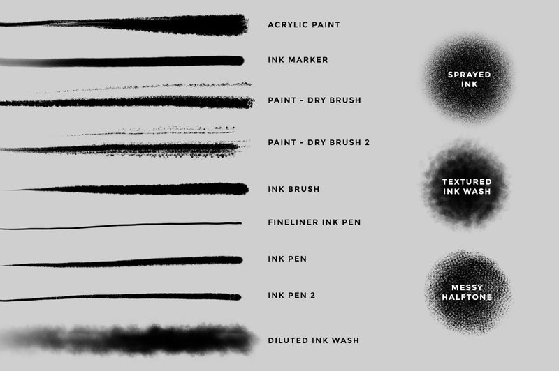 Ink and Paint Procreate Brushes
