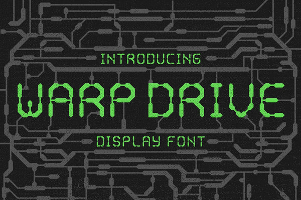 Warp Drive Display Font