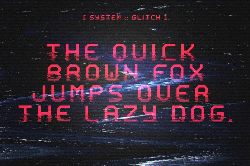 System Glitch Display Font