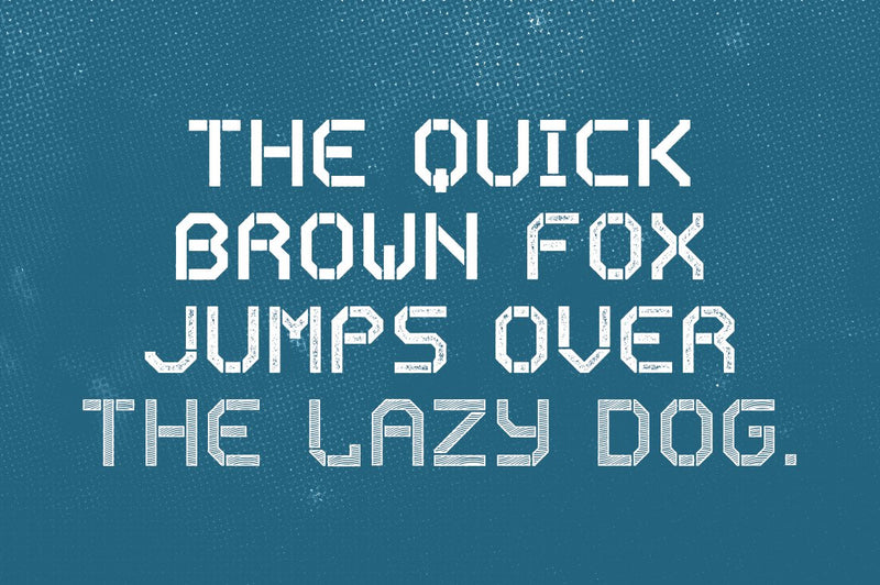 Exomoon Display Stencil Font