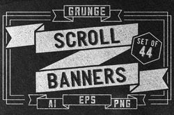Grunge Scroll Banners