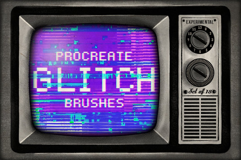 Glitch Procreate Brushes