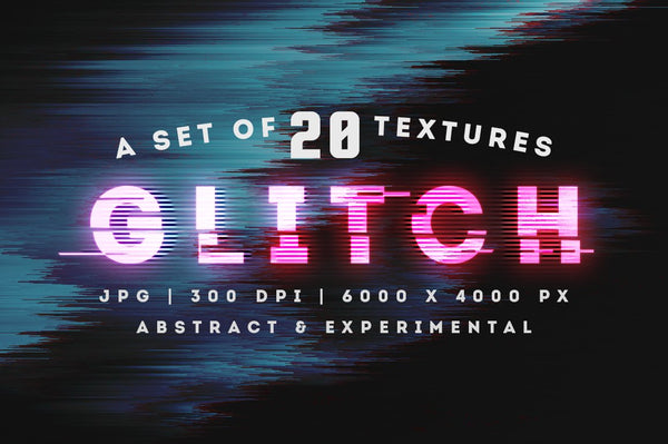 Abstract Glitch Background Textures