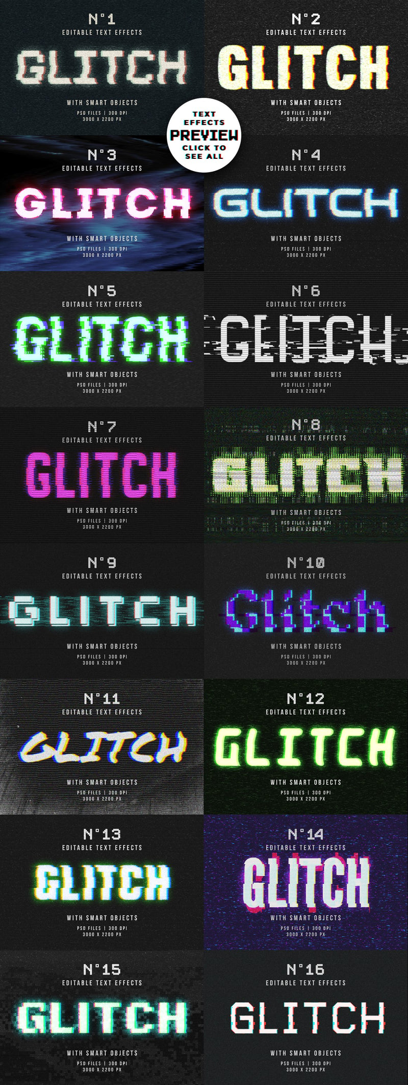 Glitch Text Effects for Photoshop