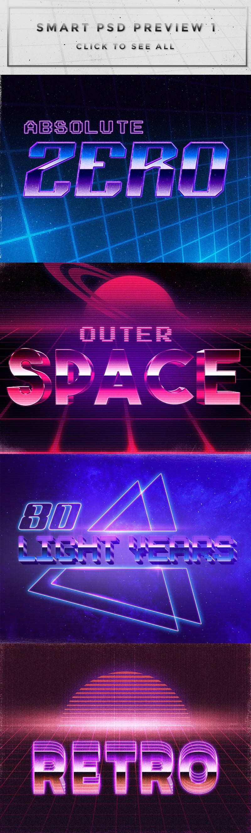 80's Inspired Photoshop Text Effects