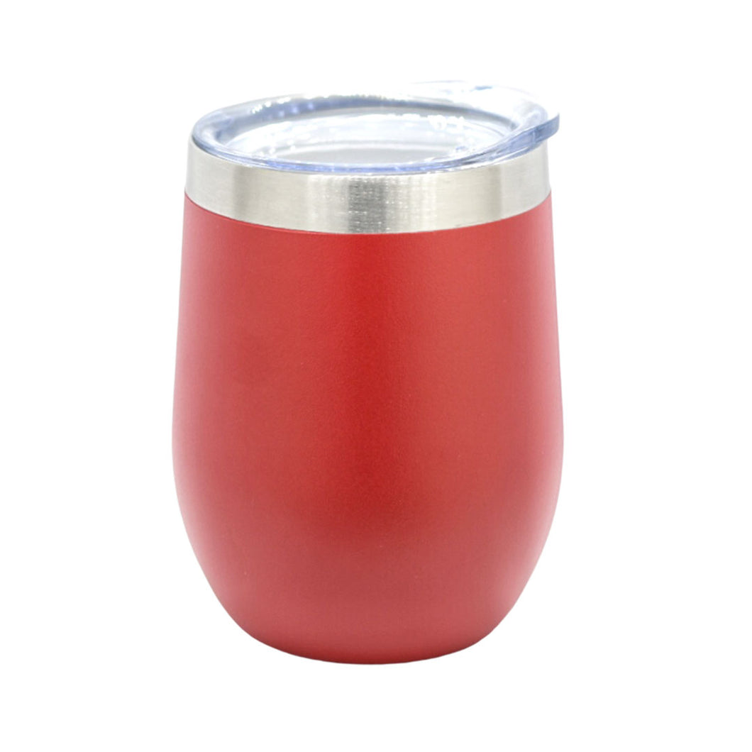 gobelet inox isotherme rouge avec couvercle