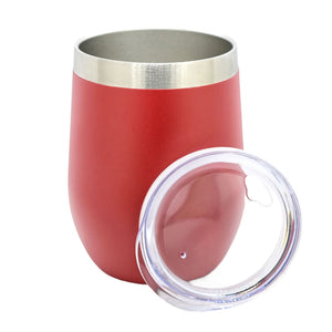 gobelet en inox isotherme rouge avec couvercle