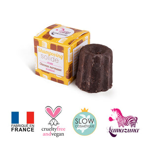 Shampoing solide chocolat - Cheveux normaux