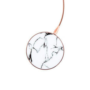 Marble Pattern Wireless Phone Charger - Rose Gold