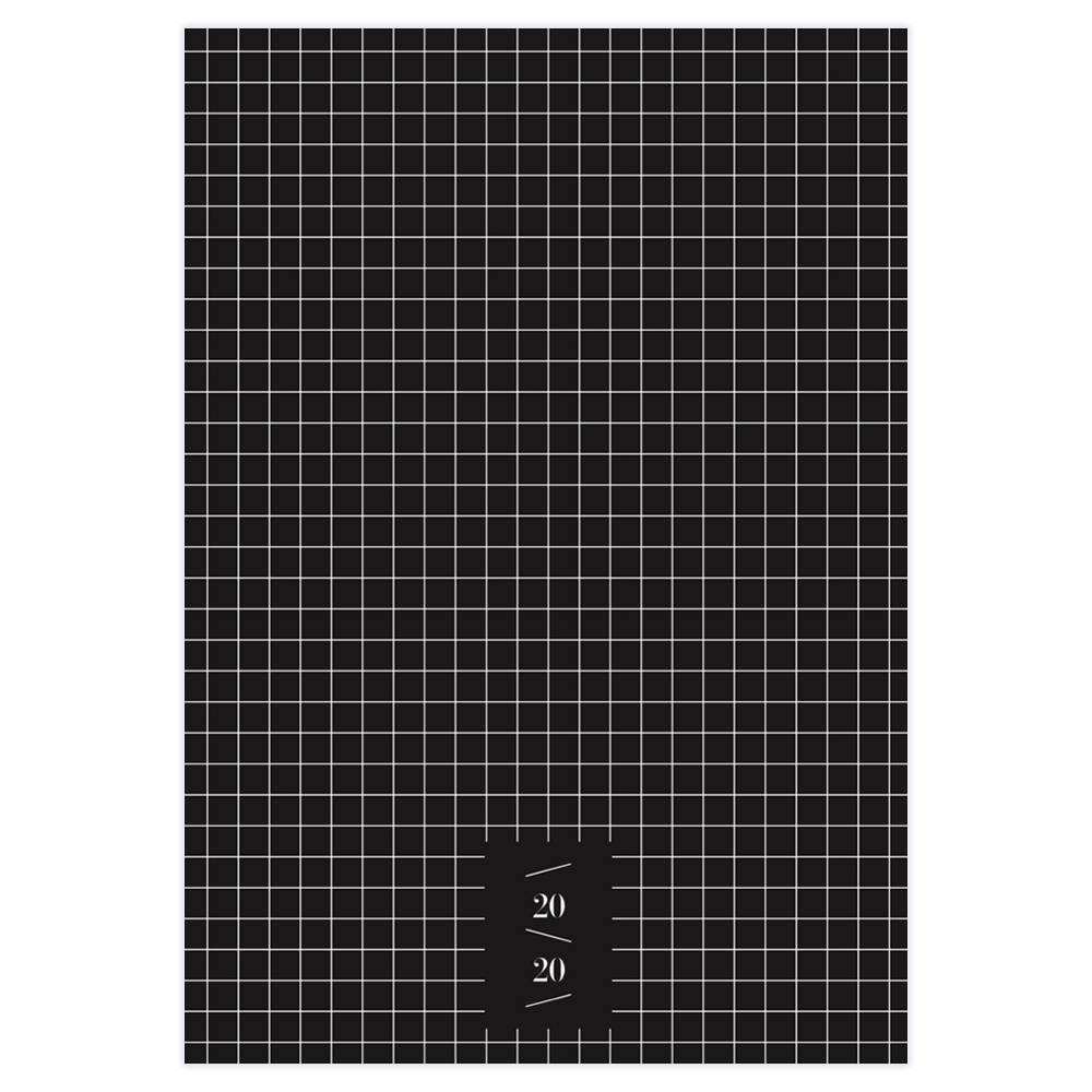2020 MONTHLY PLANNER - Black