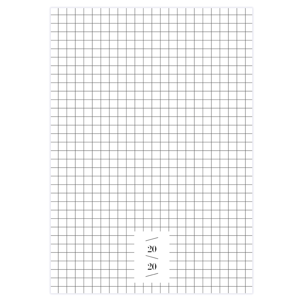 2020 MONTHLY PLANNER - White