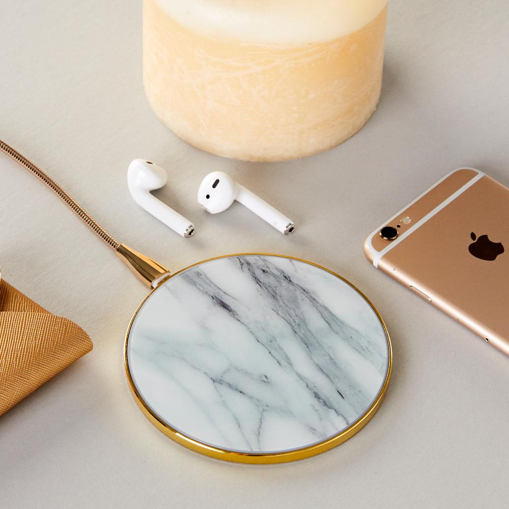 Marble Pattern Wireless Phone Charger - Gold