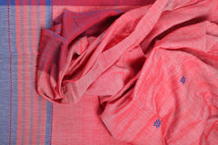 Red and blue cotton Chhaya saree