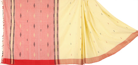 Blue and maroon cotton Chhaya saree with Muga ghicha buta