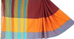 Multicolored cotton Dohi saree