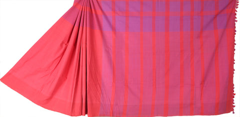 Crème and maroon Chhaya saree