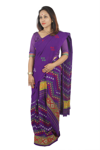 Rich Purple mekhela chadar