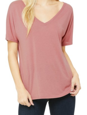 Bella + Canvas 8815 Womens Slouchy V-Neck T-Shirt