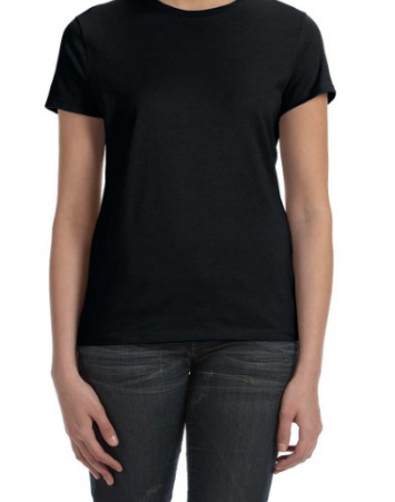 Hanes SL04 Womens 4.5 oz., 100% Ringspun Cotton nano-T T-Shirt