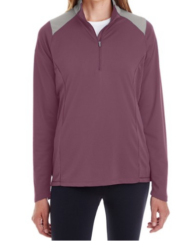 Team 365 TT27W Womens Command Colorblock Snag Protection Quarter-Zip