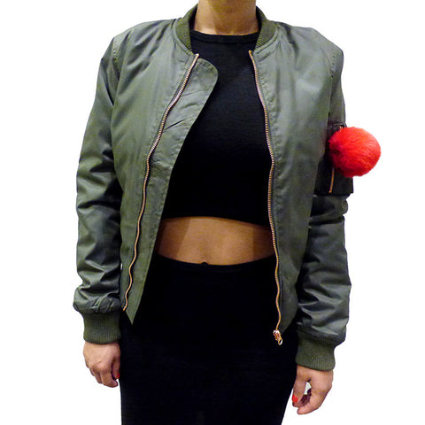 "The Ron Bass ""100% QUEEN"" Bomber Jacket"