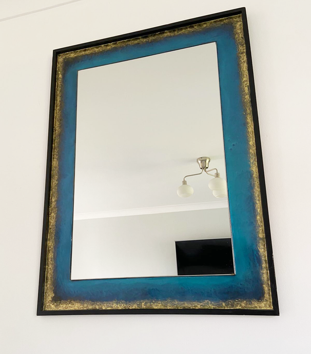 Blue & Gold Wall Mirror - Reflexim